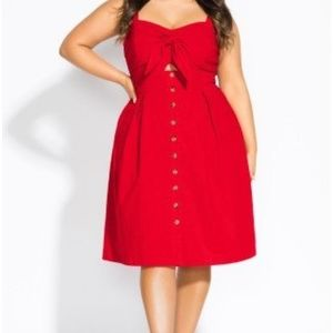 City chic sweetly tied fit flare dress red 20 L